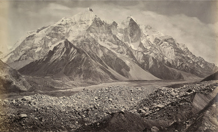 Gangotri Glacier and the Snowy Himalayan Mountains - 1865