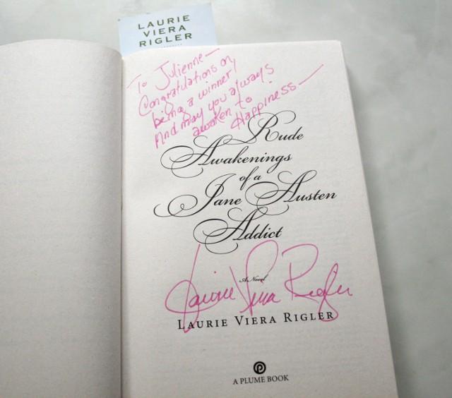 Laurie Viera Rigler signature