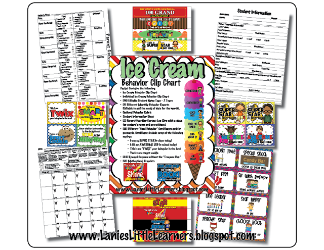 Behavior Clip Chart Management Toolkit {Ice Cream Theme}