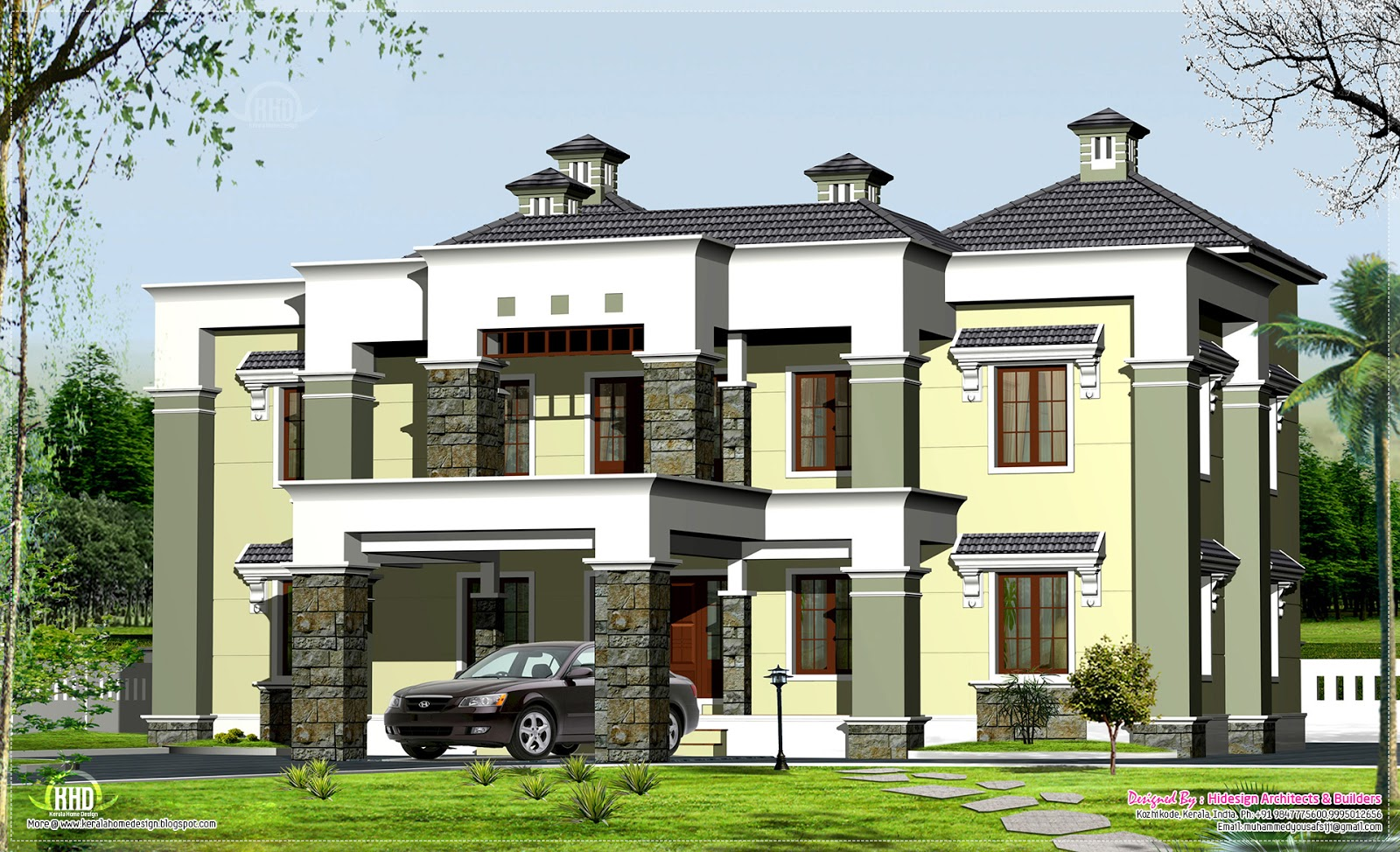 New home design luxury house elevation in 3900 New luxury house plans