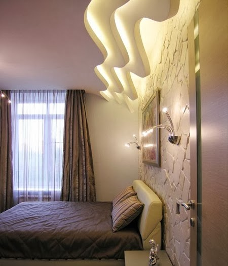 False ceiling design for bedroom with creative lighting ideas - Creative lighting ideas ...