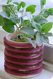Вязаный цветочный горшок