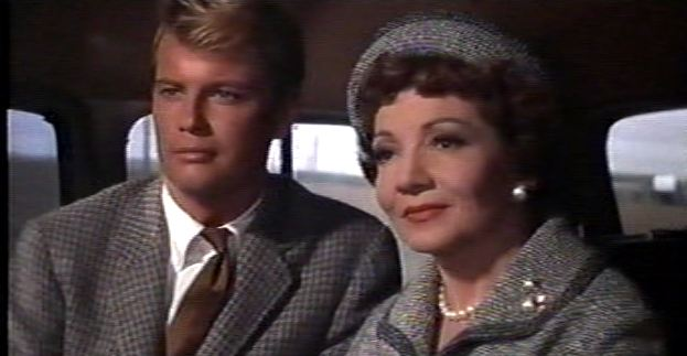 Troy Donahue and Claudette Colbert