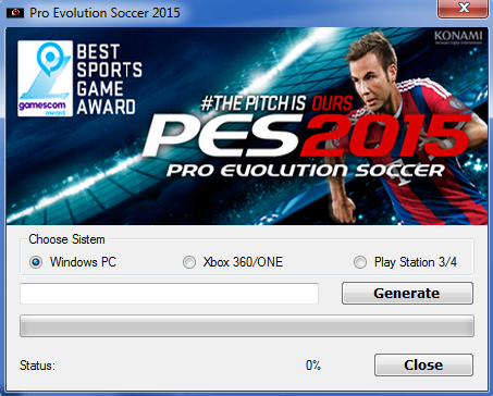 Pro Evolution Soccer 2015 CD KeyGen