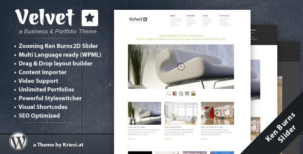Velvet - Minimal Business WordPress Theme