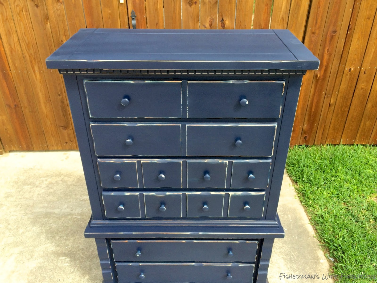 Navy U0026 Distressed Dresser