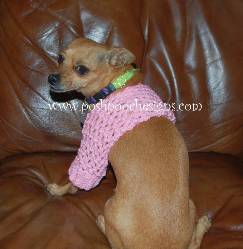 Free Crochet Patterns For Very Small Dogs : Posh Pooch Designs Dog Clothes: Small Dog Shrug Crochet ...