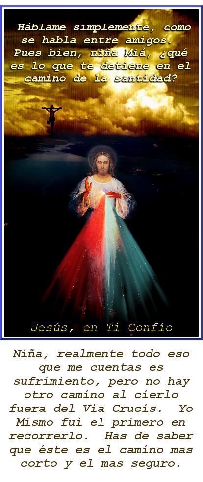 foto con la imagen de la cruz y la divina misericordia texto diario