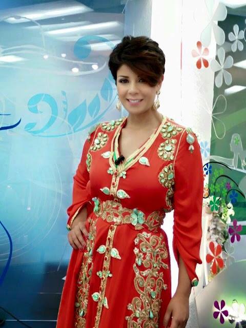 Caftan Marocain Luxe  2015 55d1-caftan-rouge-le
