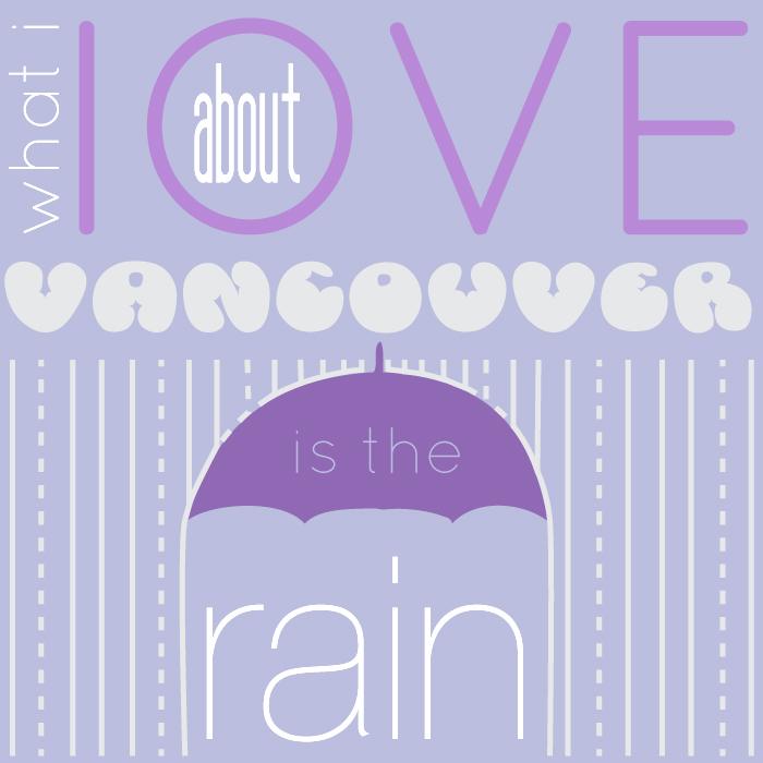 vancouver rain graphic design