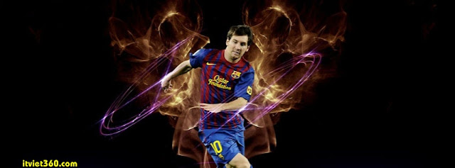 Ảnh bìa Facebook bóng đá - Cover FB Football timeline, Lionel Messi
