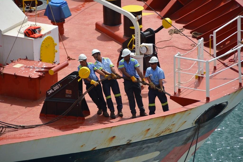 Gatun Locks Panama Canal working