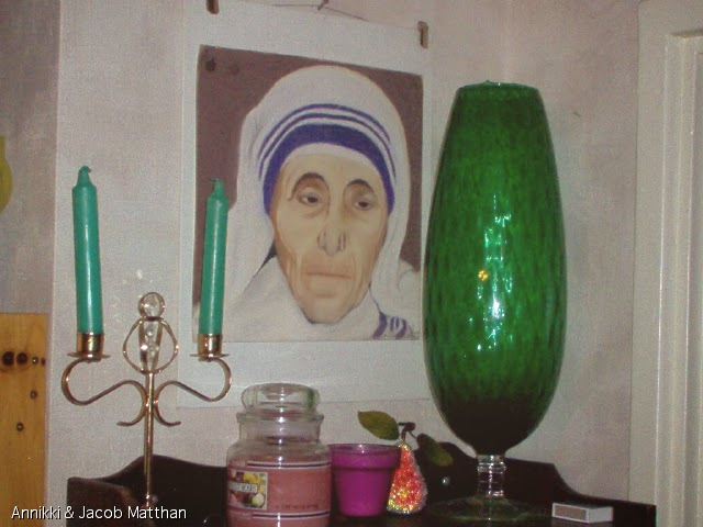 Painting of Mother Teresa by Annikki (1984)