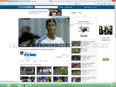 Downloading Video Clips from DailyMotion - Tutorial Step 8