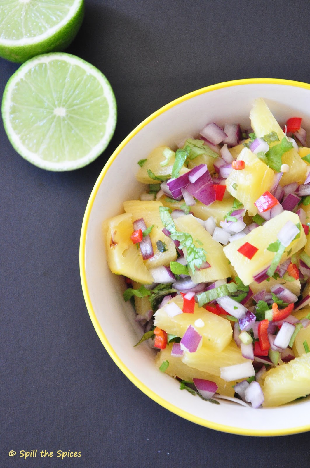 Grilled Pineapple Salsa | Spill the Spices