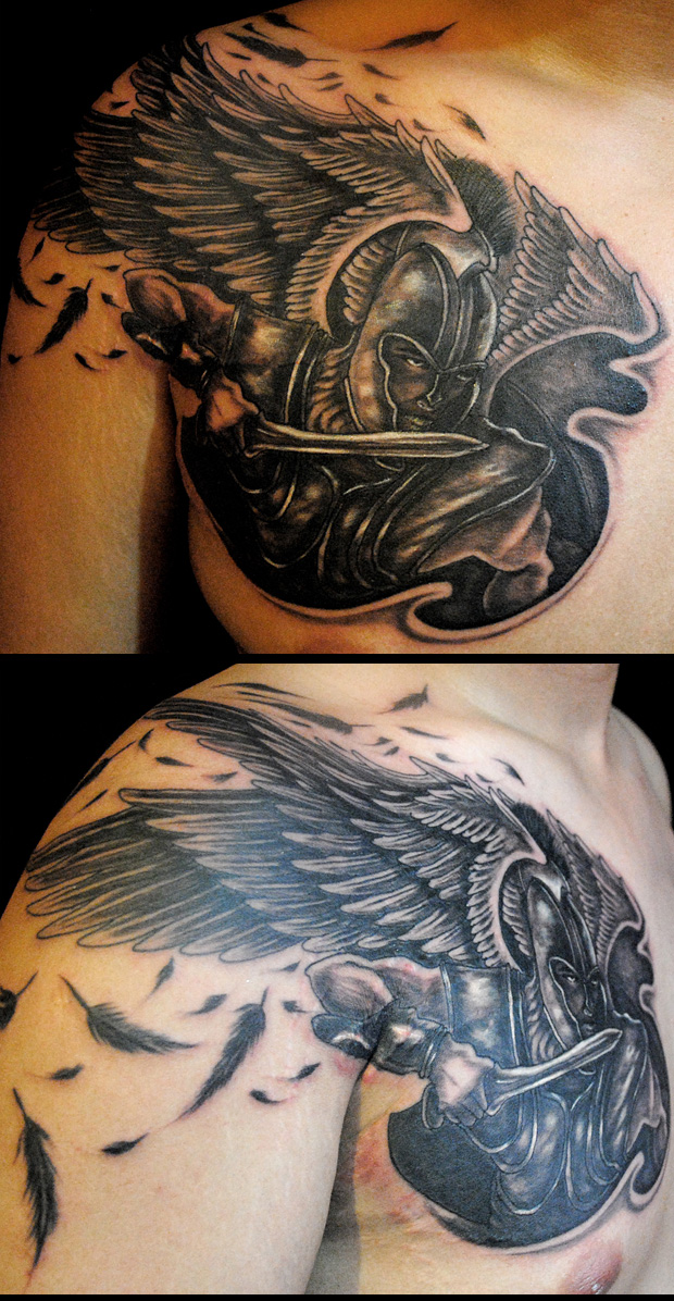 Female Warrior Angel Tattoos 2011