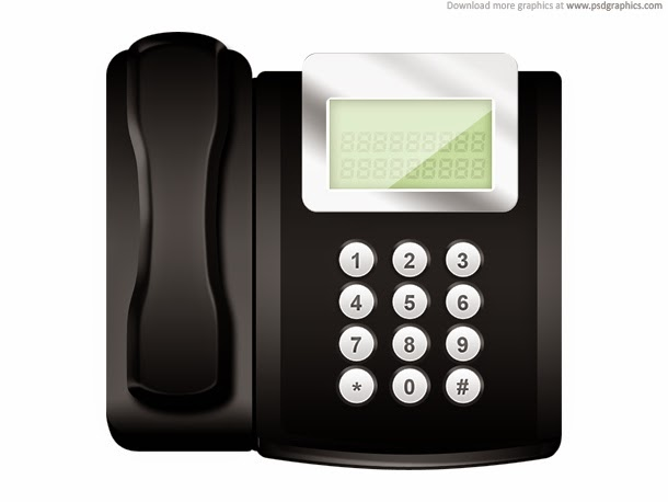 Modern Office Telephone Icon PSD