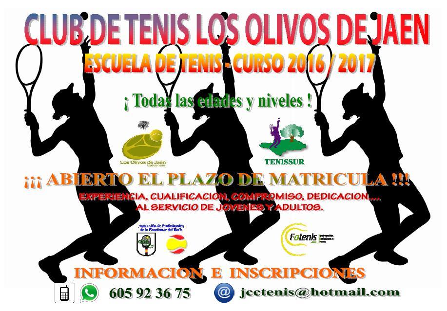 ESCUELA DE TENIS - CURSO 2016 / 2017