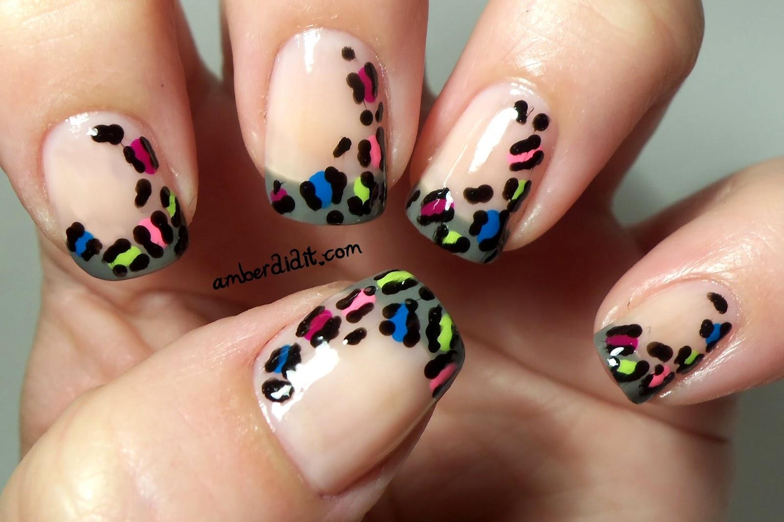 Cheetah French Tip Nail Designs