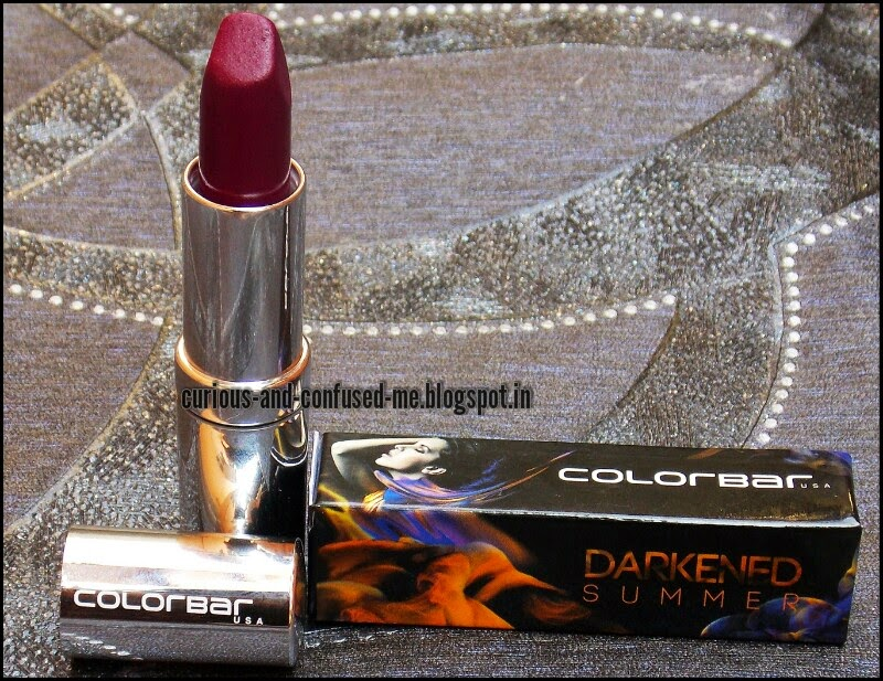 Colorbar Darkened Summer Lipstick Wild Mauve review, Colorbar Matte touch Lipstick Wild Mauve, Colorbar Darkened Summer Lipstick Wild Mauve swatch, Purple lipstick India, Best purple lipstick India, Matte lipstick India under 500, Berry lipstick India, Colorbar Wild Mauve