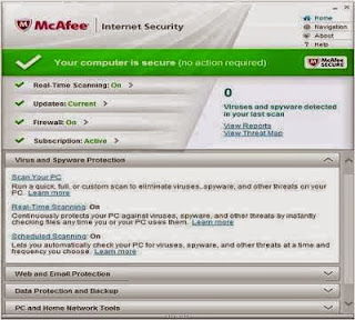 McAfee Internet Security 2014 License Key Free Download For 6Months