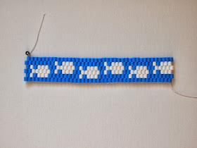 "finished ""fish"" perler bead bracelet"