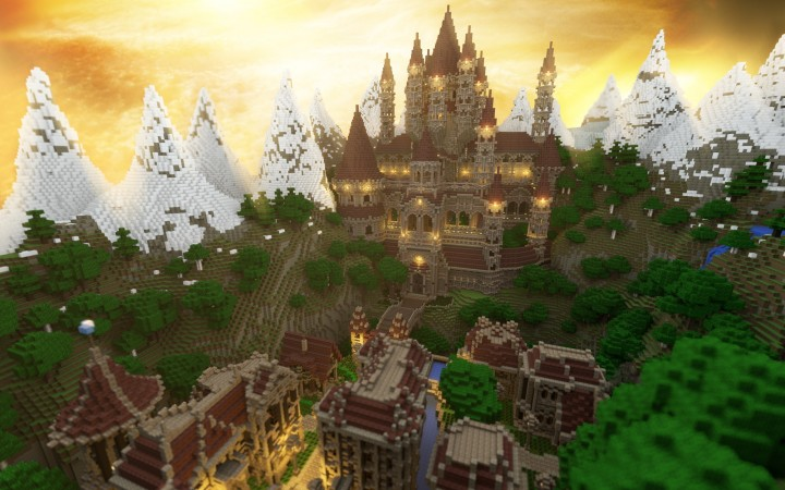 Ten Epic Minecraft Castles For Inspiration Pixel Art Building Ideas