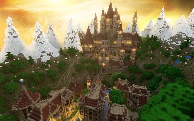 European fantasy style castle kingdom