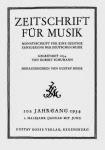 Zeitschrift für Musik. 101. Jahrgang, 1934