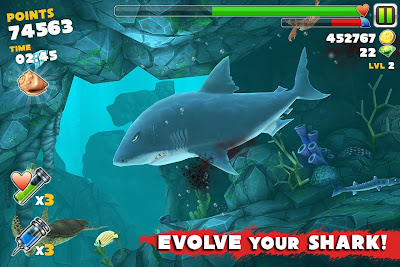 Captura de pantalla del juego Hungry Shark Evolution