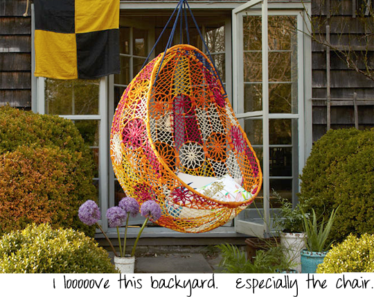 Anthropologie hanging chair