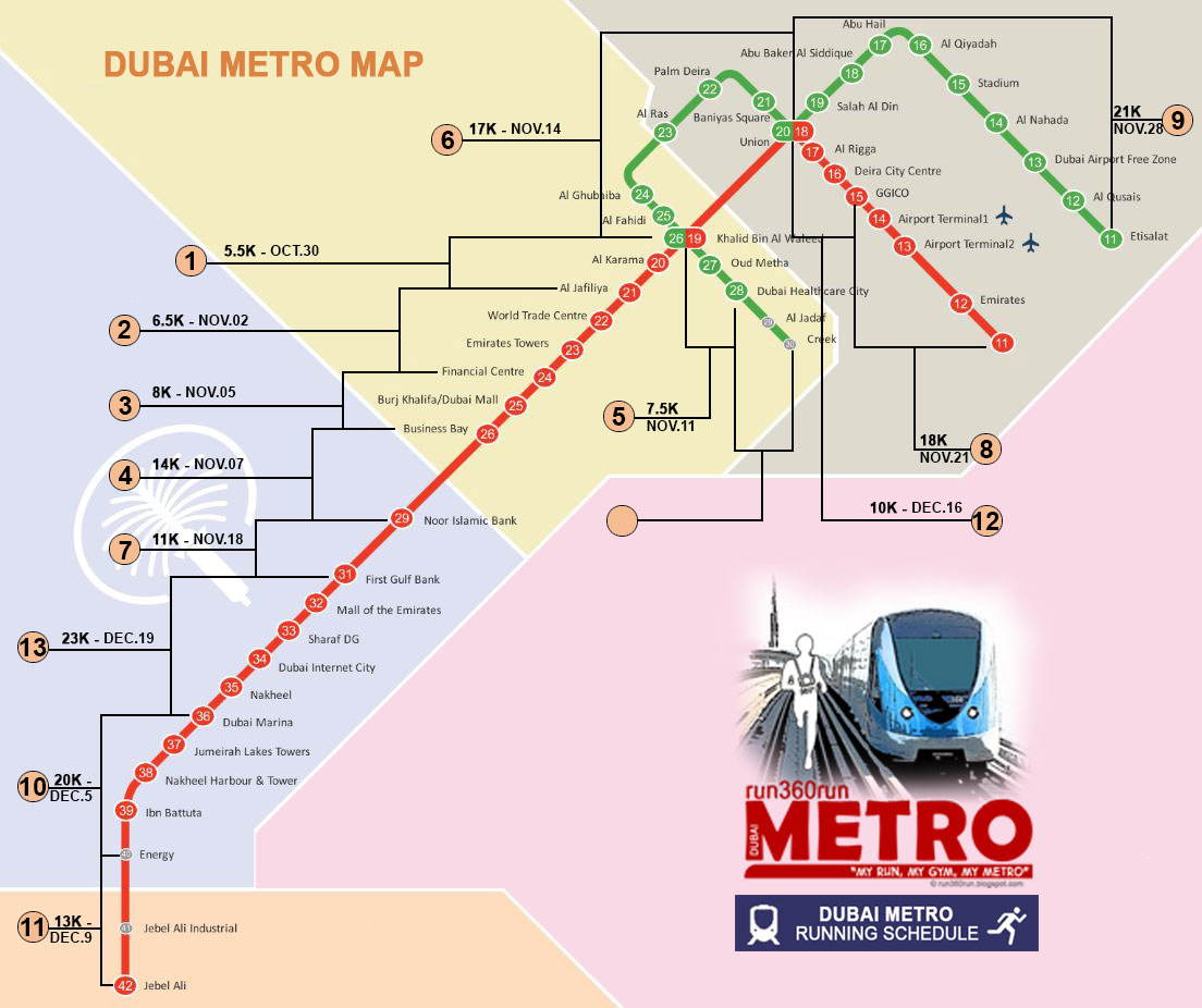 run360run: DUBAI METRO RUN Map & Schedule
