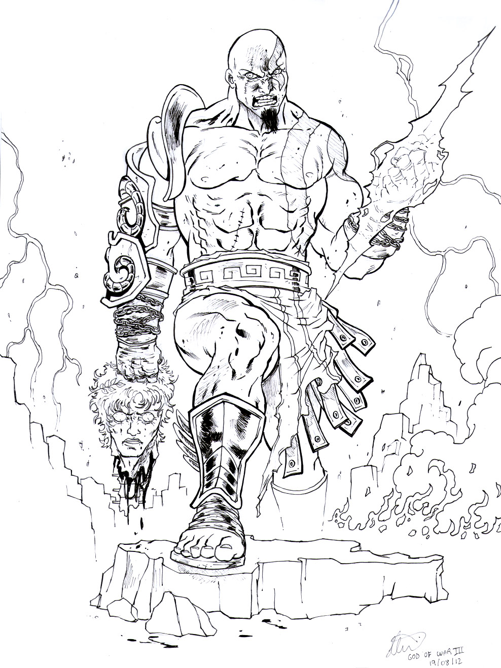 god of war coloring pages - photo#27