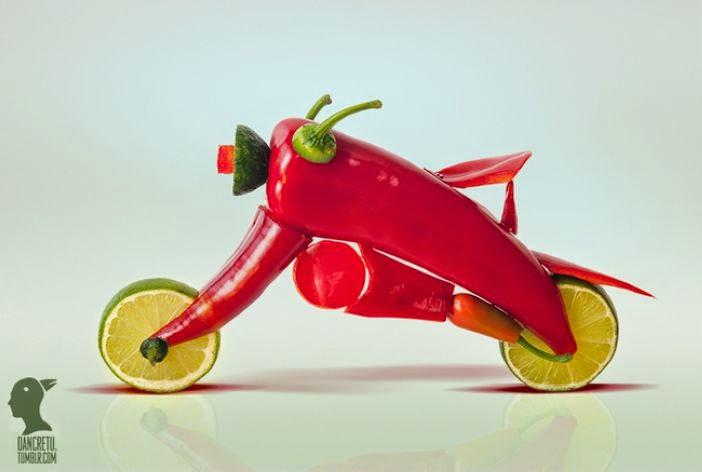 Artist Dan Cretu Creates Amazing Food Sculptures with Ordinary Edibles That Look Too Good To Eat
