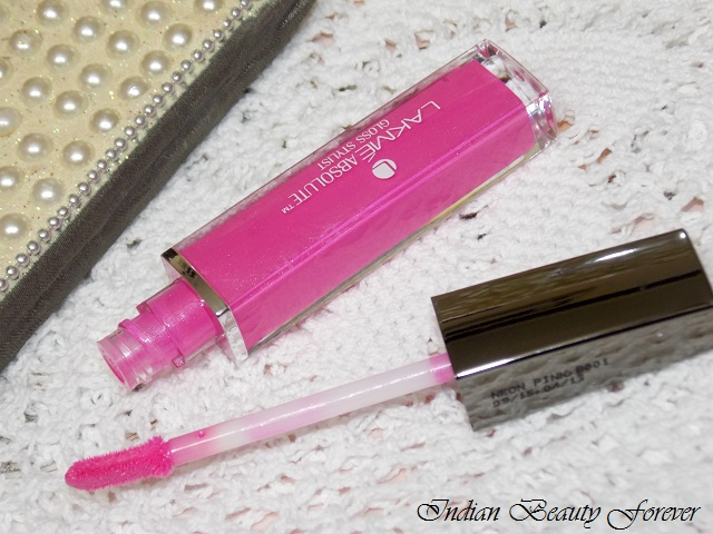 Lakme absolute stylist Lip Gloss shades, price and swatches