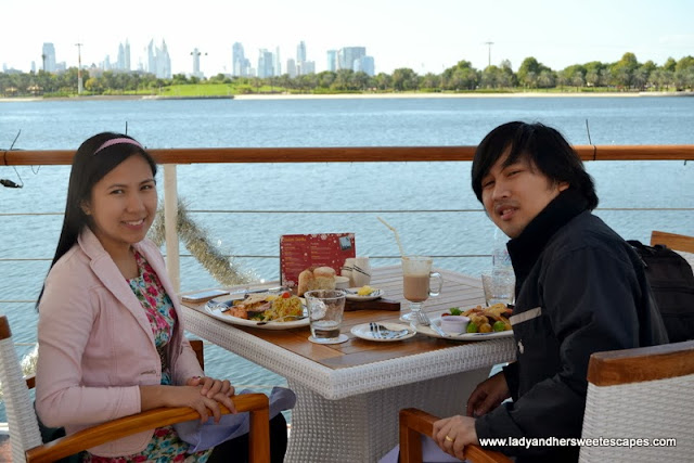 Ed and Lady at Boardwalk Dubai