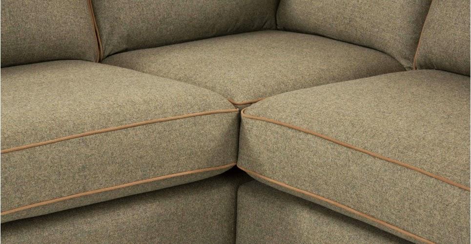 David Dangerous Made Uk Wolseley Corner Sofa Tweed