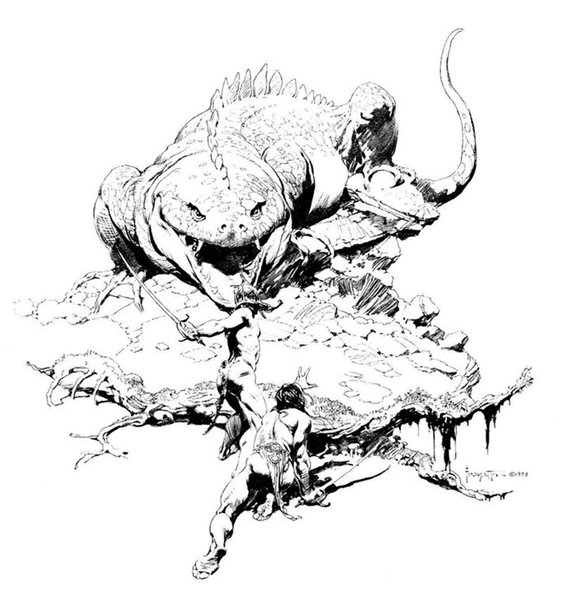 Fantasy Ward: Sketch Work: the drawings of Frank Frazetta