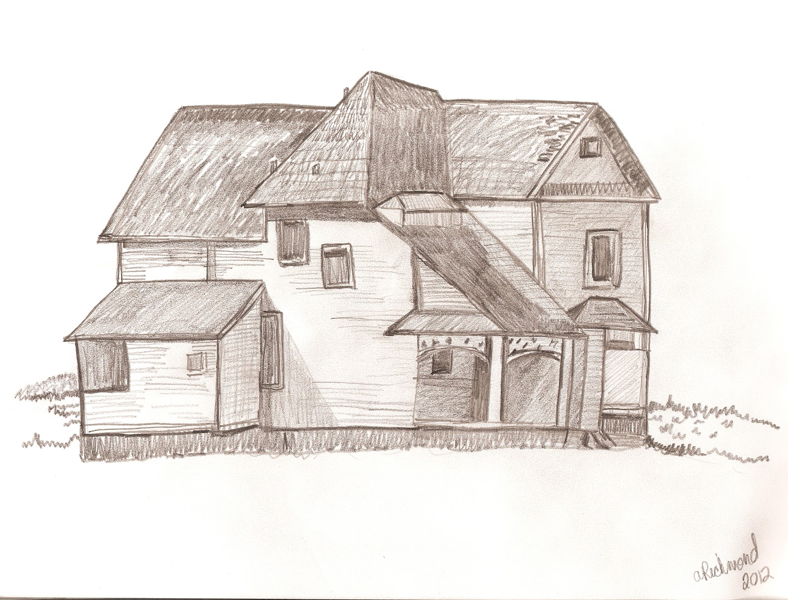 Write me happy creative every day drawing Draw your house