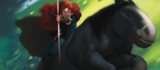 pixar brave merida. Pixar tweeted the first images