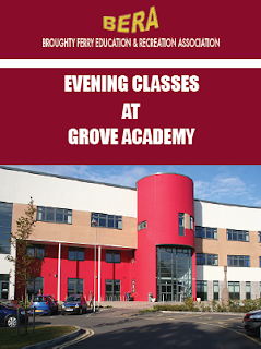 Broughty Ferry Education and Recreation Association evening classes at Grove Academy, Dundee Autumn 2015