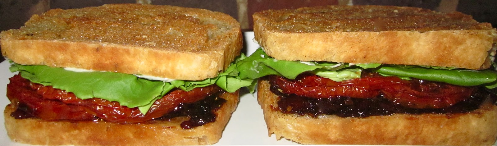: Bacon Jam BLT's with Slow Roasted Tomatoes, Fried Homemade Roasted ...