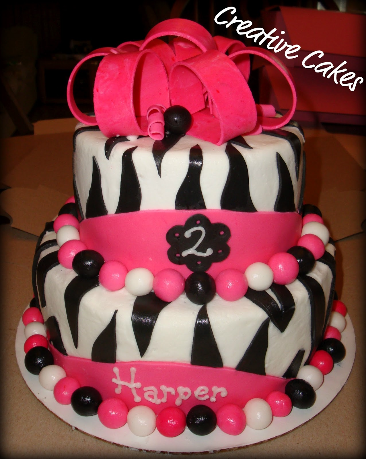 Creative cakes: Small version of the Zebra Cake