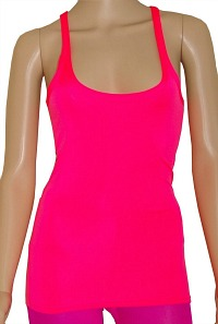 fitted neon vest top