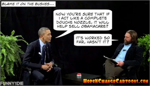 obama, obama jokes, cartoon, humor, political, hope n' change, hope and change, stilton jarlsberg, conservative, tea party, obamacare, health care, insurance, sebelius, mandate, sequester, funny or die, ferns, galifianakis