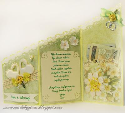 karki okolicznościowe karta typu składaczek kartka na wesele barbara wójcik