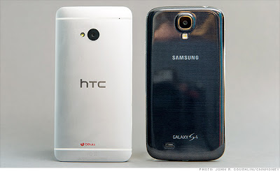 Samsung Galaxy S4 VS HTC One Design