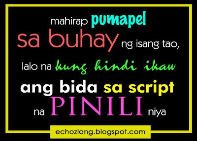 Mahirap pumapel sa buhay ng isang tao, lalo na kung hindi ikaw ang bida sa script na pinili niya.