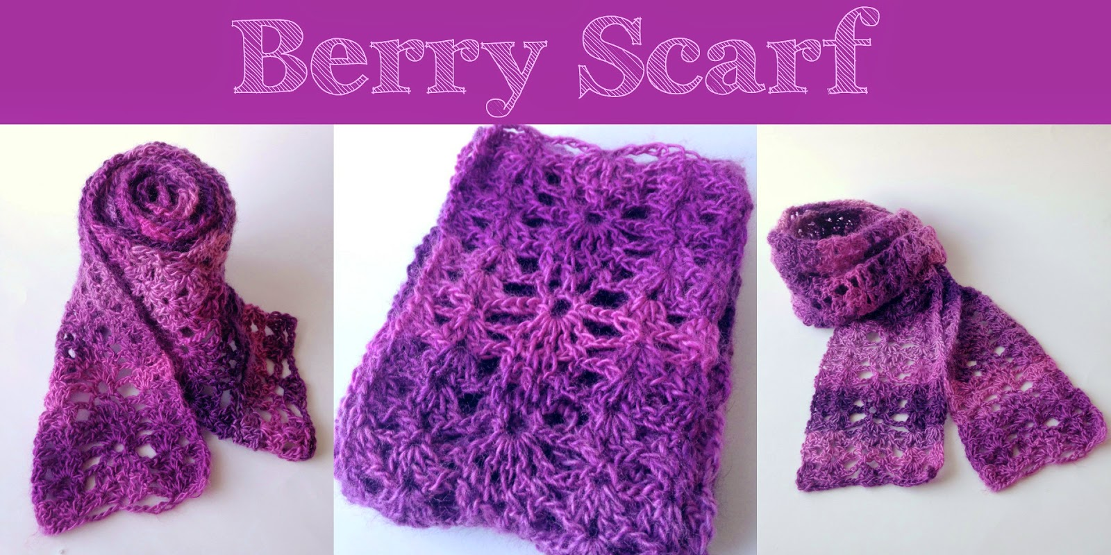 5 Little Monsters: Berry Scarf: Free Crochet Pattern