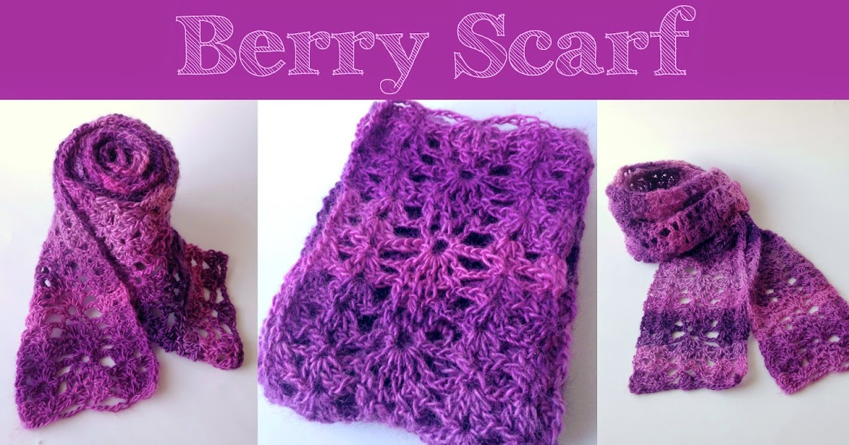 Crochet Stitches Visual Encyclopedia Free : Little Monsters: Berry Scarf: Free Crochet Pattern